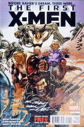 Marvel, The First X-men #1 comic signed by Neal Adams