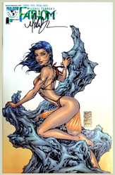 Fathom #9, vol.#1, Oct 1999, comic signed by Michael Turner