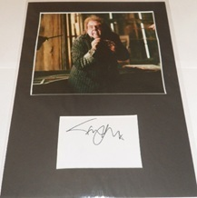 Timothy Spall Signed Index Card Presentation Harry Potter