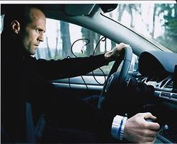 Jason Statham Signed Transporter 10x8 Photo