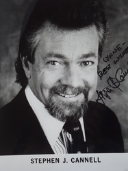 Cannell, Stephen J. - authentic autograph
