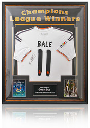 Gareth Bale hand signed Real Madrid shirt