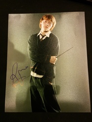 Rupert Grint Autograph HARRY POTTER signed in person 10 x 8 photo