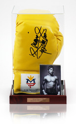 Official Manny Pacquiao Hand Signed Boxing Glove in display case