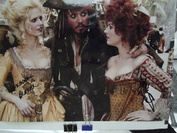 "Branch, Vanessa and Maher, Lauren ""Ladies"" from Pirates of the Caribbean - authentic autographs"