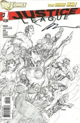 DC Comics, Justice League #1, The New 52comic book signed by Jim Lee