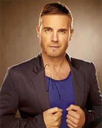 Gary Barlow signed 10x8 photo.