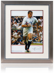 Mark Cueto hand signed England Rugby montage