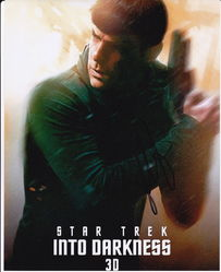 Zachary Quinto Autograph Star Trek Into Darkness signed in person 10x8 Photo