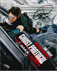 Tom Cruise Signed Mission Impossible Ghost Protocol 10x8 Photo