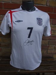 David Beckham Signed England Shirt 2005