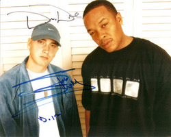 Eminem & Dr Dre signed 10x8 photo.