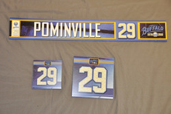 Jason Pominville Buffalo Sabres Locker Room Nameplate, Stick Plate, Dry Stall Plate 2010-11 Season