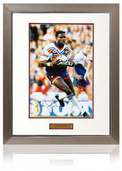 MARTIN OFFIAH hand signed Great Britain Rugby League photograph