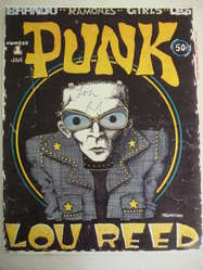 Lou Reed signed 1969 Punk magazine