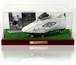 SIR TOM FINNEY Signed Football Boot