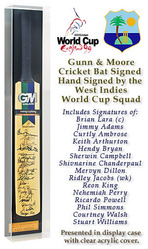 GM Cricket Bat Hand Signed by West Indies 1999 World Cup Squad