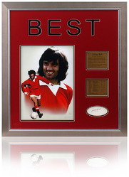 George Best Hand Signed Presentation