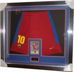 Lionel Messi Signed Shorts Presentation