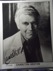Heston, Charlton - A2 - authentic autograph