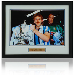 "Brian Kilcline Hand Signed 12x8"" Coventry City Framed 1987 FA Cup Photo"