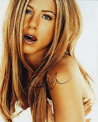 Jennifer Aniston Signed 10x8 Photo