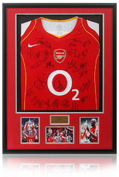 ARSENAL F.C. 2005 FA Cup Winning Squad Hand Signed Shirt