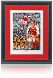 "Paul Merson hand signed 16x12"" montage"