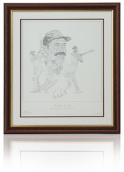 Graham Gooch hand signed art print