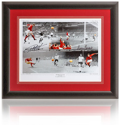 "Geoff Hurst & Martin Peters 16x12"" Hand Signed 1966 World Cup Montage"