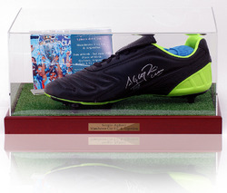 SERGIO AGUERO Hand Signed Football Boot