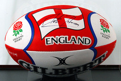Martin Johnson hand signed Rugby Ball