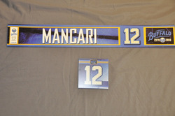 Mark Mancari Buffalo Sabres Locker Room Nameplate & Dry Stall Plate 2010-11 Season