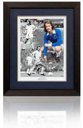FRANK WORTHINGTON Hand Signed Leicester City Framed Montage