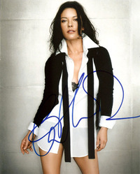 Catherine Zeta Jones signed 10x8 photo.