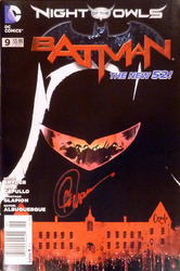 DC, Batman, The New 52, #9, Night of the Owls signed by Greg Capullo