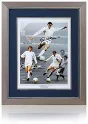 Martin Chivers hand signed 16x12 Tottenham Hotspur Montage