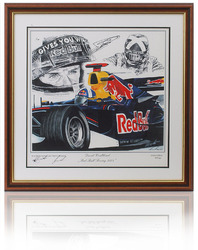 David Coultard hand signed canvas