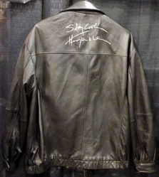 Jos.A.Bank black leather Jacket was signed by Henry Winkler