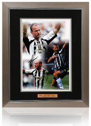 Alan Shearer signed Newcastle Montage