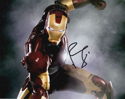 Robert Downey Jnr as Iron Man Signed 10x8 Photo