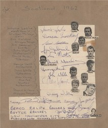 1962 SIGNED Scotland AUTOGRAPHS