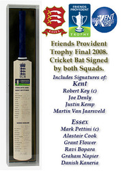 Essex & Kent Friends Provident Trophy Final 2008 Squad Signed Cricket Bat