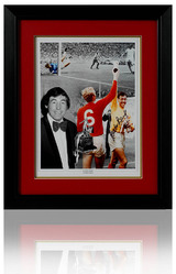 Gordon Banks hand signed World Cup 1966 large montage