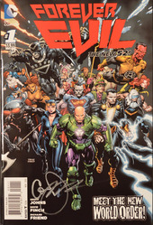 DC, Forever Evil #1, The New 52, signed by Geoff Johns