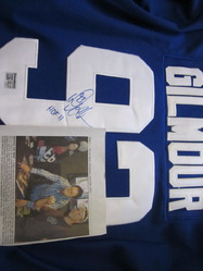 Doug Gilmour Autographed Jersey with HOF inscription