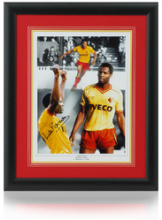 "Luther Blissett hand signed Watford FC 16x12"" montage"