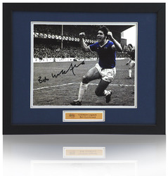 "BOB LATCHFORD Hand Signed EVERTON F.C. 12x8"" framed photograph"