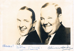 Laurel and Hardy Signed Photograph