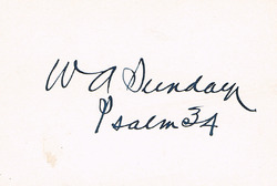 "WA ""Billy""Sunday Autograph"